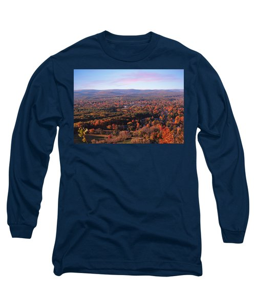 View From Mount Tom In Easthampton, Ma Long Sleeve T-Shirt