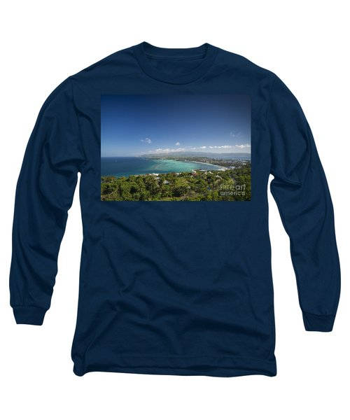 View Of Boracay Island Tropical Coastline In Philippines Long Sleeve T-Shirt