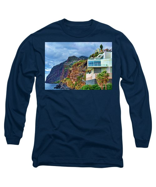 Viewpoint Over Camara De Lobos Madeira Portugal Long Sleeve T-Shirt