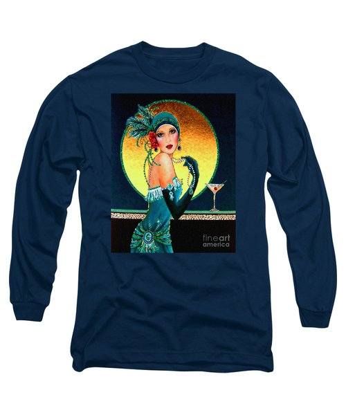 Vintage 1920s Fashion Girl  Long Sleeve T-Shirt