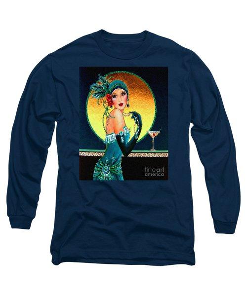 Vintage 1920s Fashion Girl  Long Sleeve T-Shirt
