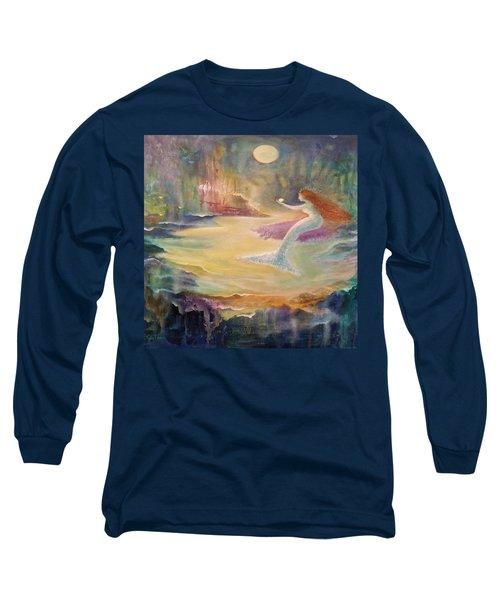 Vintage Mermaid Long Sleeve T-Shirt by Lily Nava
