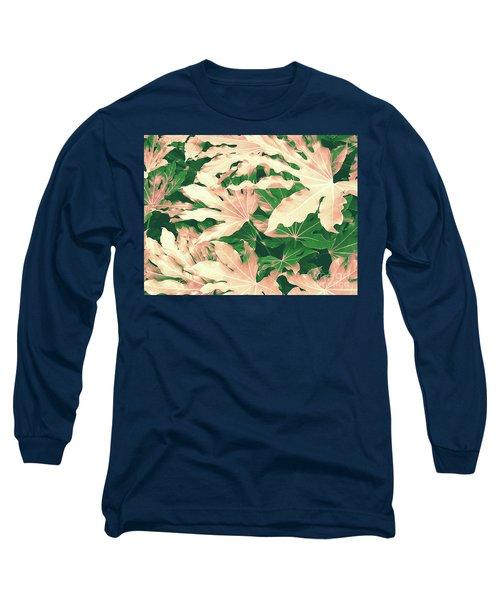 Vintage Season Pink Long Sleeve T-Shirt by Rebecca Harman