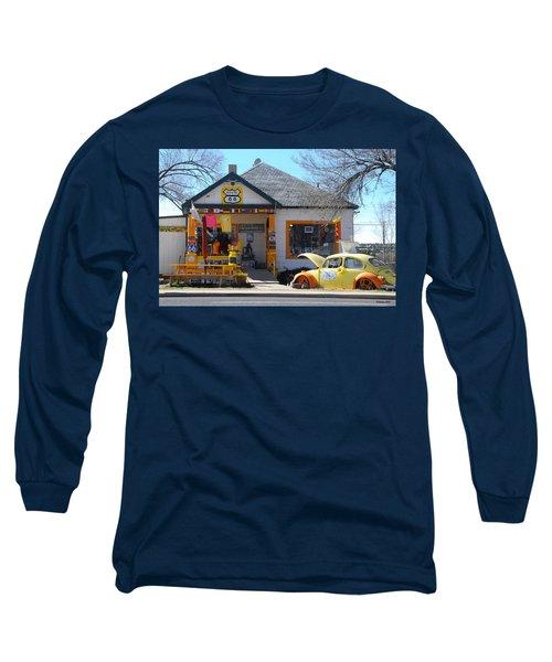 Vintage Vw Beetle At Seligman Antiques, Historic Route 66 Long Sleeve T-Shirt