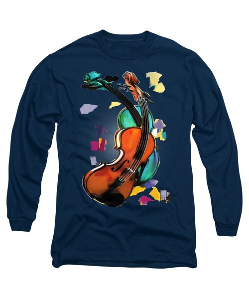 Violins Long Sleeve T-Shirt by Melanie D