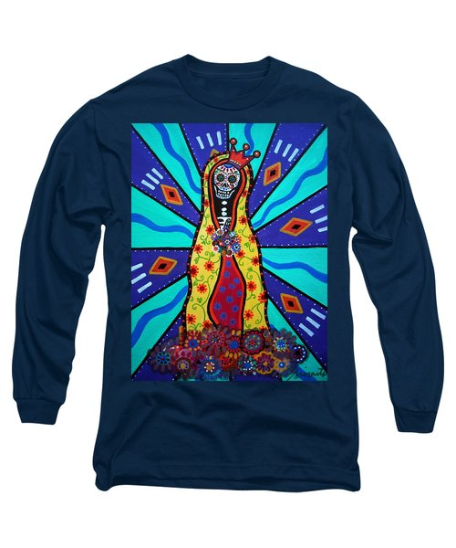 Virgin Guadalupe Day Of The Dead Long Sleeve T-Shirt