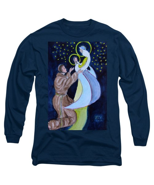 Virgin Mary With Jesus And St Anthony Long Sleeve T-Shirt