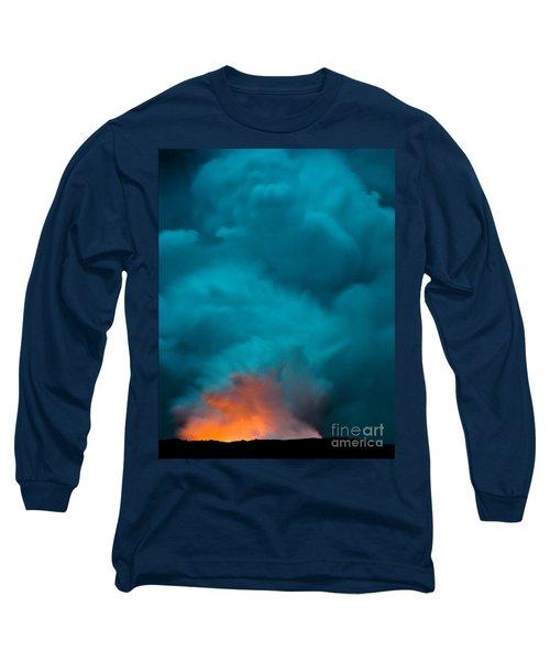 Volcano Smoke And Fire Long Sleeve T-Shirt