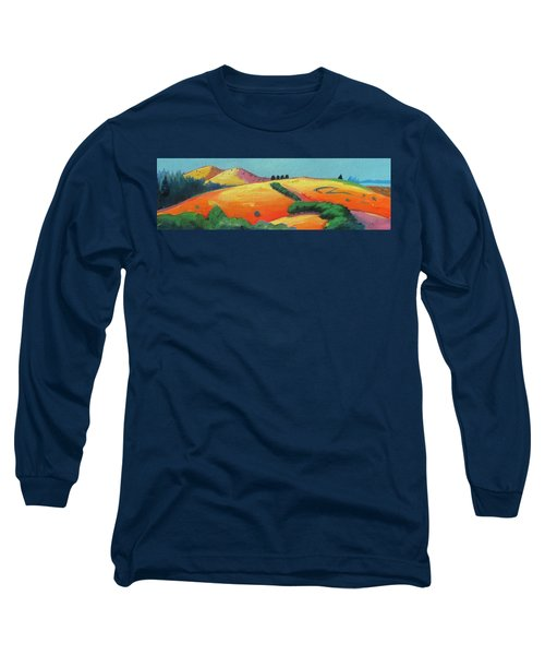 Voluptuous Windy Hill Long Sleeve T-Shirt by Gary Coleman
