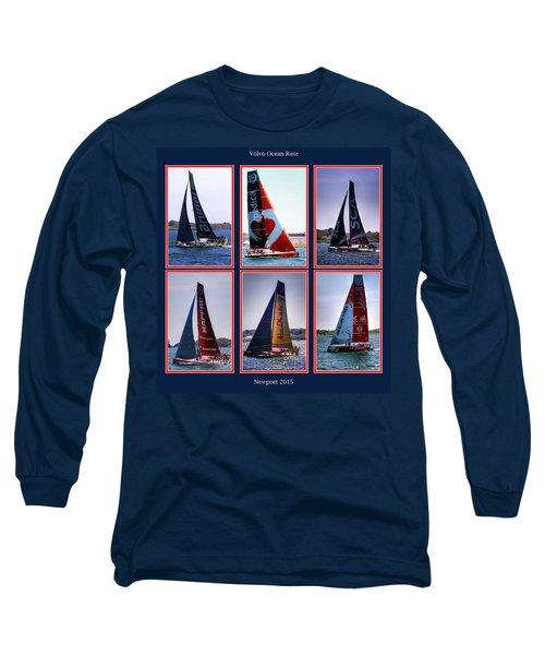 Volvo Ocean Race Newport 2015 Long Sleeve T-Shirt by Tom Prendergast