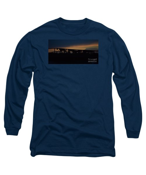 Long Sleeve T-Shirt featuring the photograph Wagon Train Slihoutte by Mark McReynolds