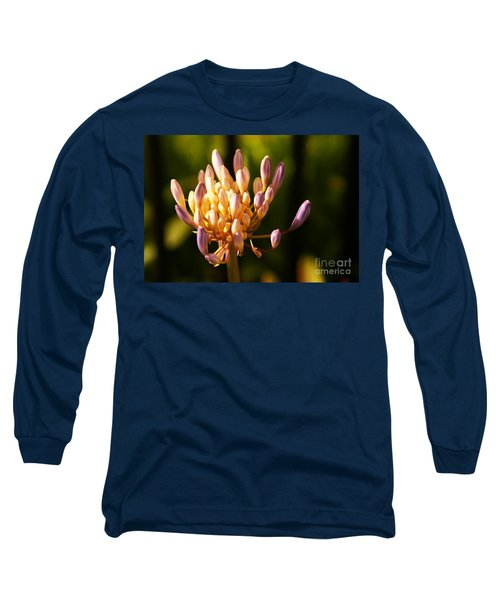 Waiting To Blossom Into Beauty Long Sleeve T-Shirt by Linda Shafer