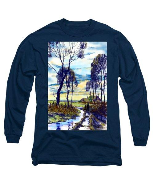 Walk On A Wet Road Long Sleeve T-Shirt