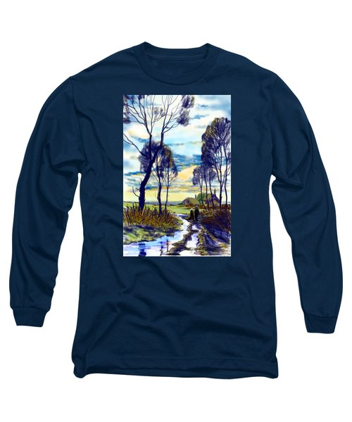 Walk On A Wet Road Long Sleeve T-Shirt