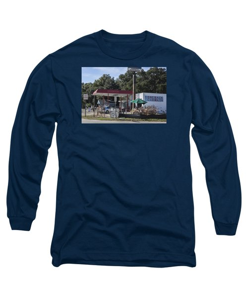 Walking Canes And Staffs At The Comeback Carwash Long Sleeve T-Shirt by Suzanne Gaff