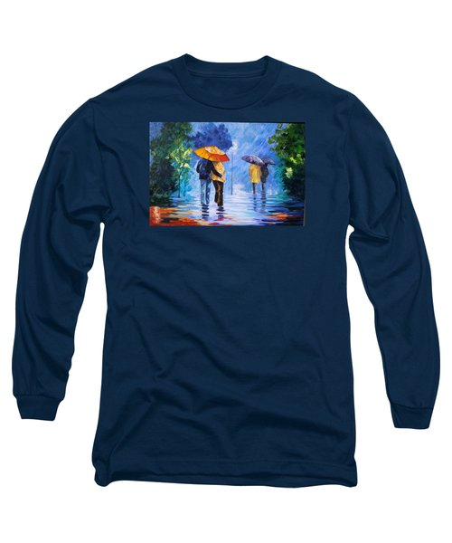 Walking In The Rain Long Sleeve T-Shirt
