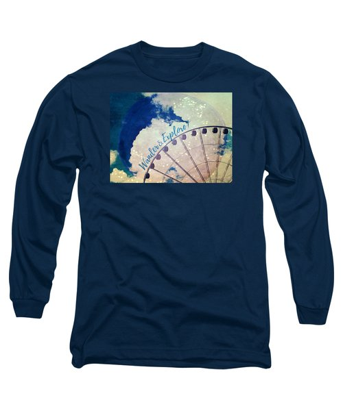Wander And Explore Long Sleeve T-Shirt by Robin Dickinson