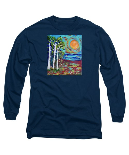 Long Sleeve T-Shirt featuring the painting Warmth Of The Sun by Haleh Mahbod