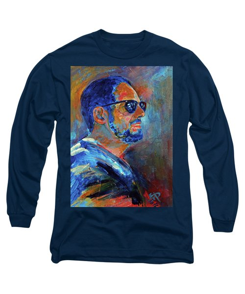 Long Sleeve T-Shirt featuring the painting Warren Gazing At The Surf by Walter Fahmy