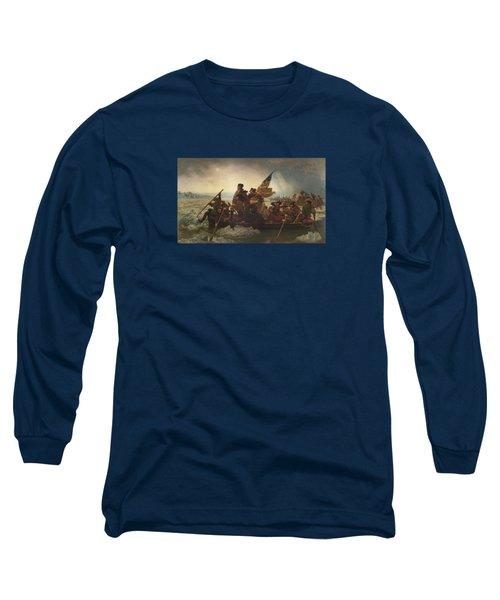 Washington Crossing The Delaware Painting  Long Sleeve T-Shirt