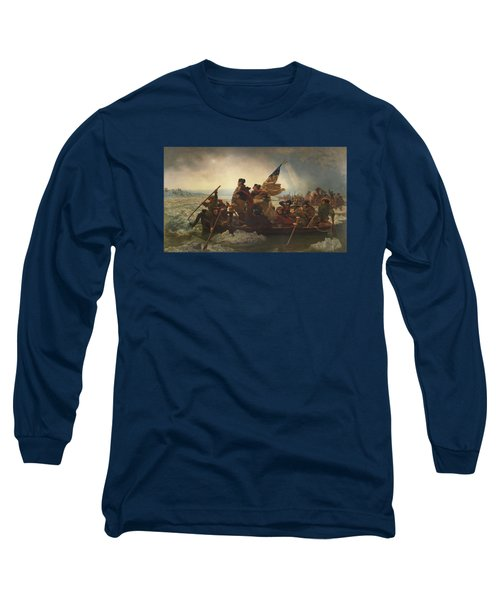 Washington Crossing The Delaware Painting  Long Sleeve T-Shirt