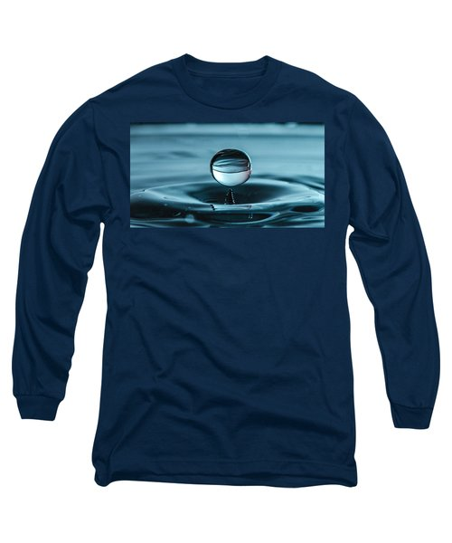 Water Drop With Milk Long Sleeve T-Shirt by Bruce Pritchett