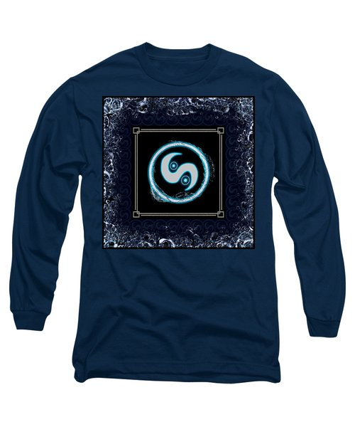 Long Sleeve T-Shirt featuring the digital art Water Emblem Sigil by Shawn Dall