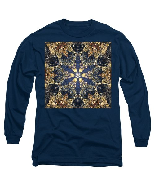 Long Sleeve T-Shirt featuring the mixed media Water Glimmer 3 by Derek Gedney