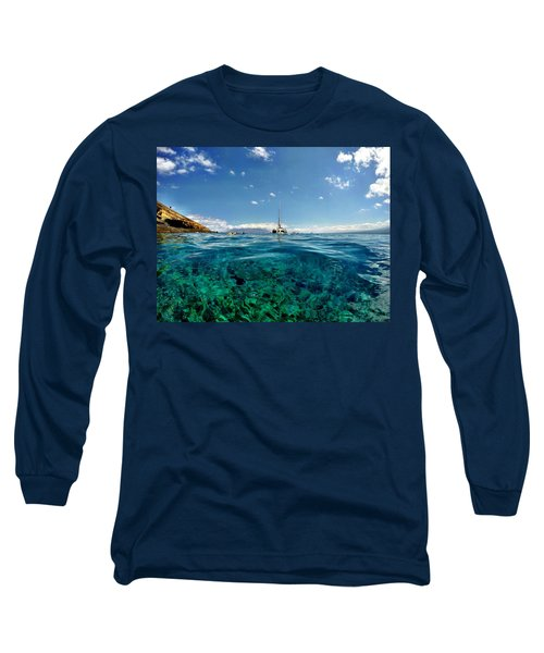 Long Sleeve T-Shirt featuring the photograph Water Shot by Michael Albright