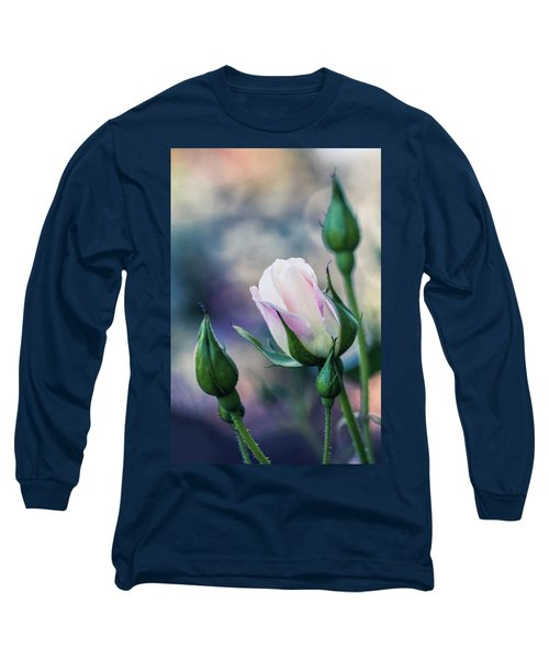 Watercolor Rose Long Sleeve T-Shirt