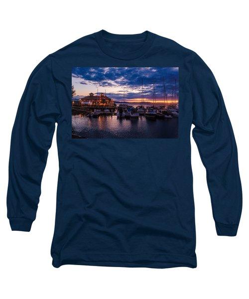 Waterfront Summer Sunset Long Sleeve T-Shirt
