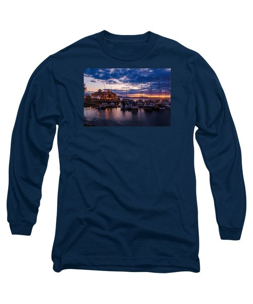 Waterfront Summer Sunset Long Sleeve T-Shirt