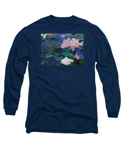 Waterlilies Six Long Sleeve T-Shirt by David Klaboe