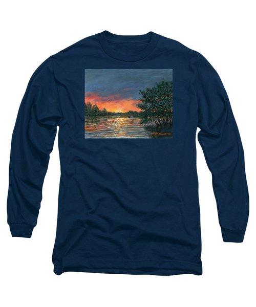 Waterway Sundown Long Sleeve T-Shirt by Kathleen McDermott
