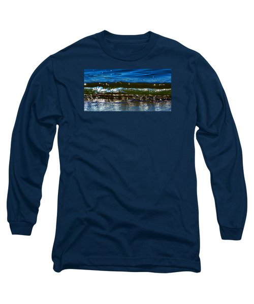 Long Sleeve T-Shirt featuring the photograph Waves Water Light 2  by Lyle Crump