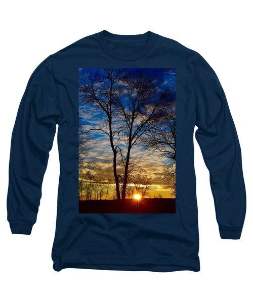 Weekend Sunrise In Minnesota Long Sleeve T-Shirt by Dacia Doroff