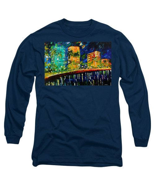 West Palm At Night Long Sleeve T-Shirt