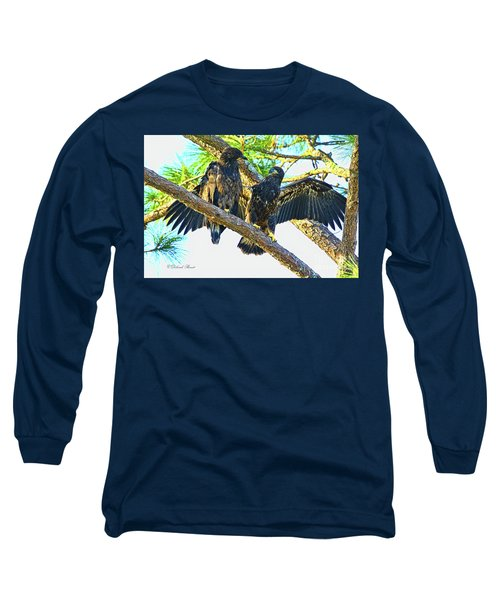 Long Sleeve T-Shirt featuring the photograph What Shall I Say by Deborah Benoit