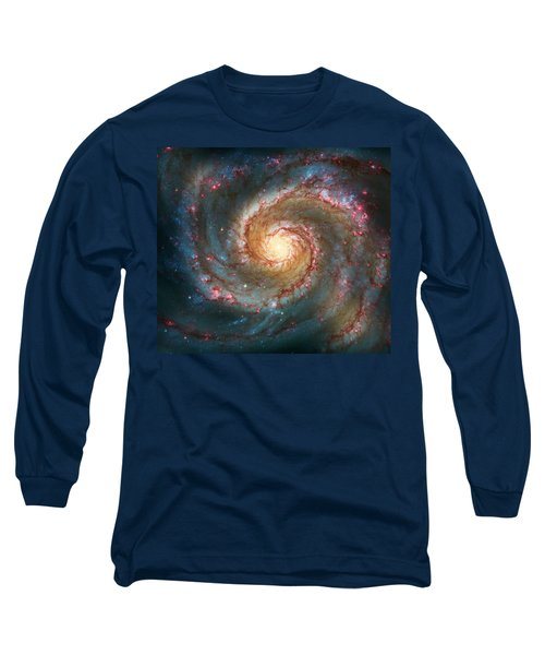 Whirlpool Galaxy  Long Sleeve T-Shirt by Jennifer Rondinelli Reilly - Fine Art Photography