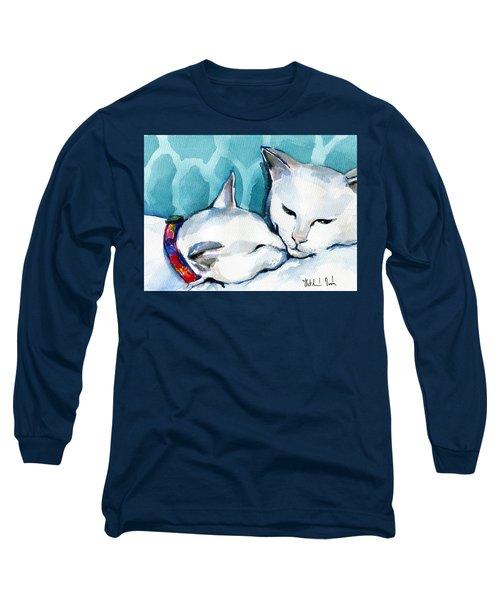 White Cat Affection Long Sleeve T-Shirt