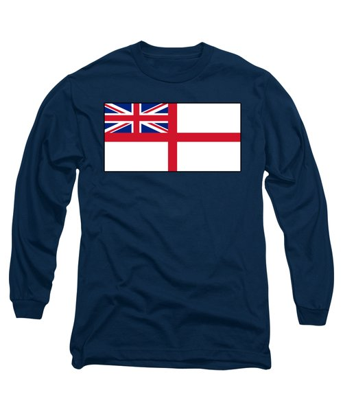 White Ensign, Flag, Royal Navy, Ships, St George's Cross, St George's Ensign, Navy, Blue Long Sleeve T-Shirt