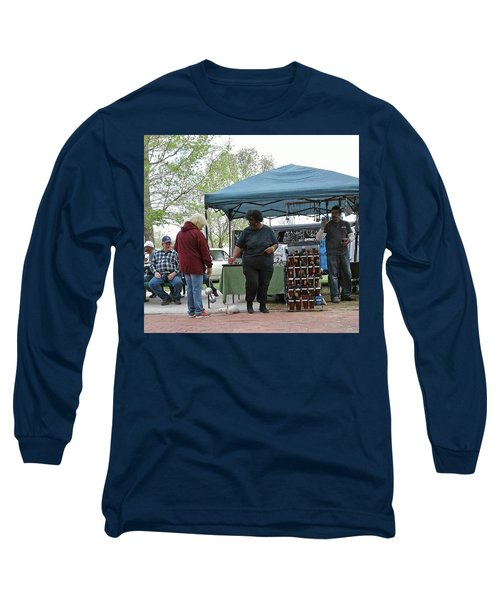 Long Sleeve T-Shirt featuring the photograph White Ferret Car Show by Jack Pumphrey