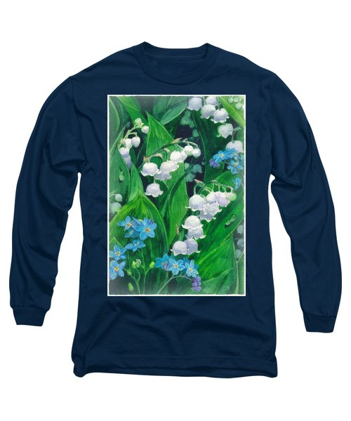 White Lilies Of The Valley Long Sleeve T-Shirt