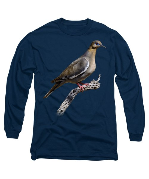 White-winged Dove V53 Long Sleeve T-Shirt by Mark Myhaver