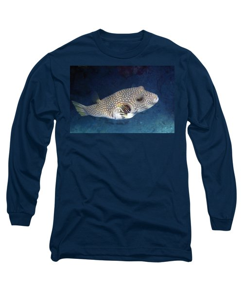 Whitespotted Pufferfish Closeup Long Sleeve T-Shirt