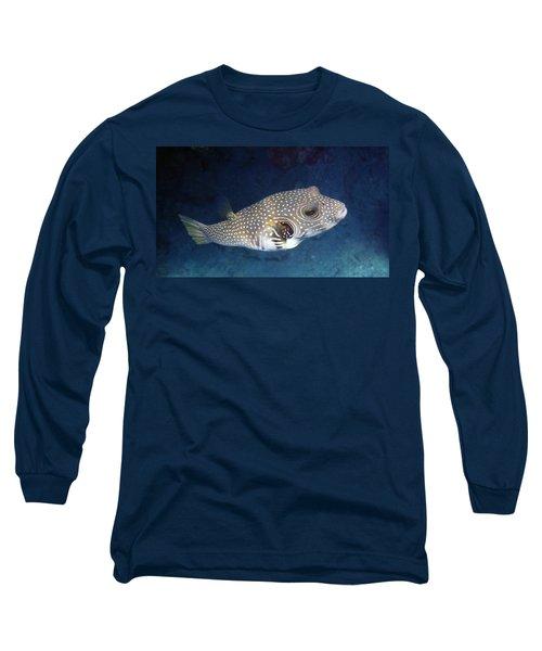 Whitespotted Pufferfish Closeup Long Sleeve T-Shirt