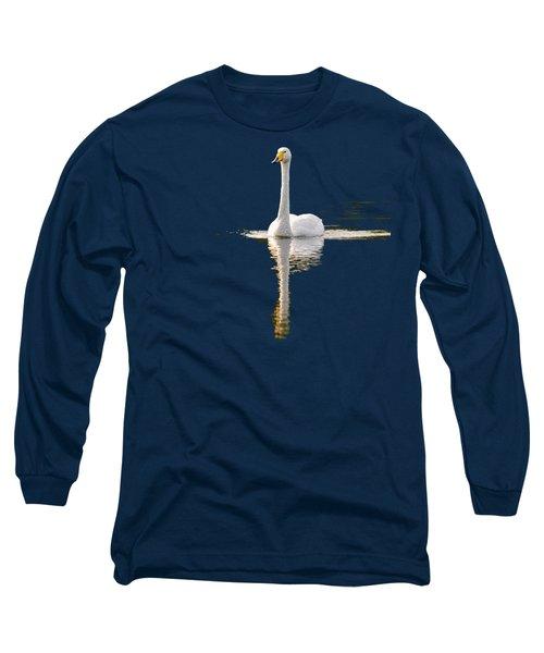 Whooper Swan Transparent Long Sleeve T-Shirt