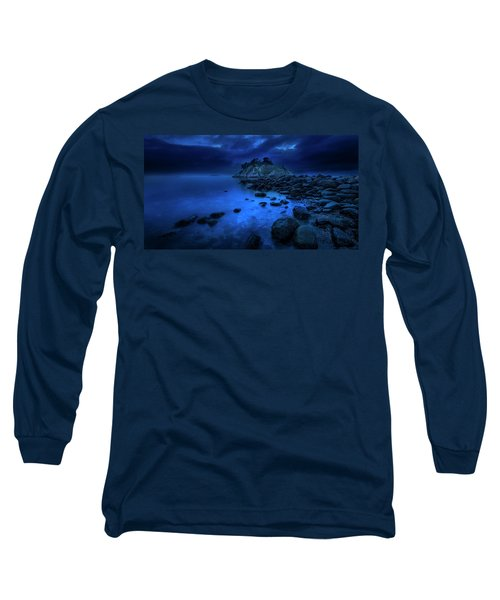 Long Sleeve T-Shirt featuring the photograph Whytecliff Dusk by John Poon