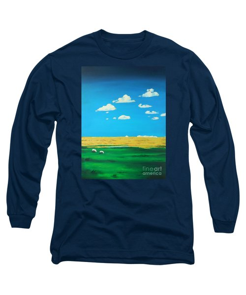 Wide Open Spaces And A Big Blue Sky Long Sleeve T-Shirt