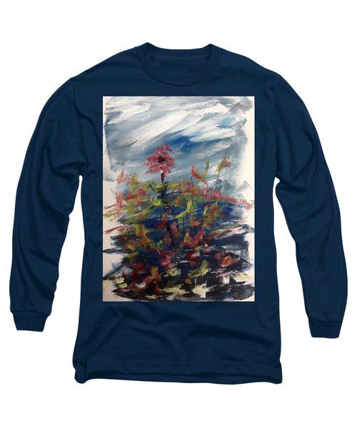 Wild Flowers On An Overcast  Day Long Sleeve T-Shirt